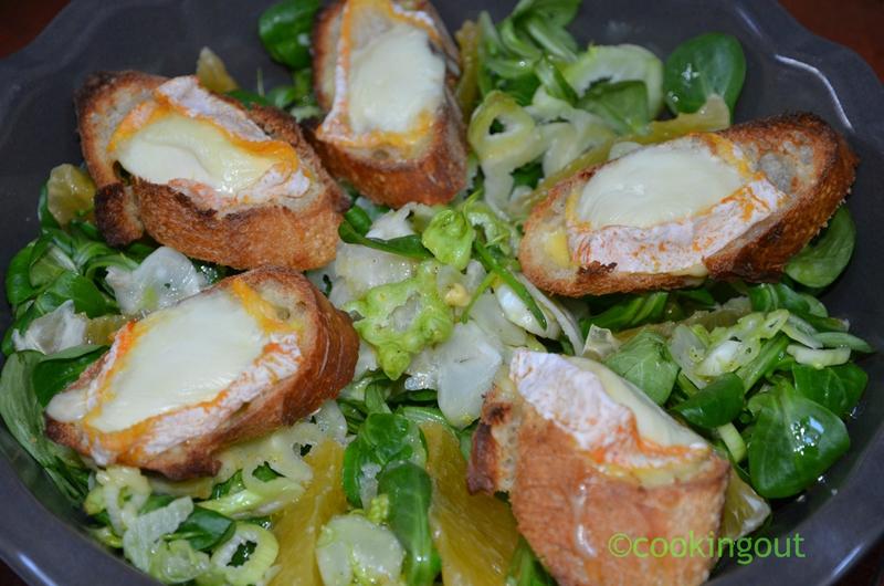 Salade croquante au Langres