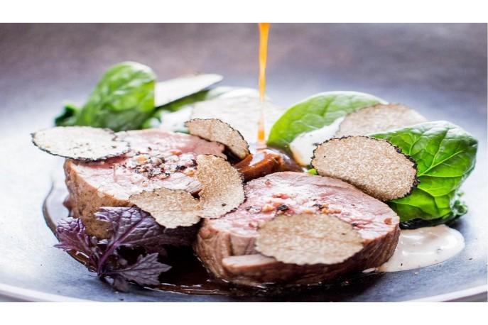 Mignon de porc ou de veau à la truffe de Bourgogne fraîche